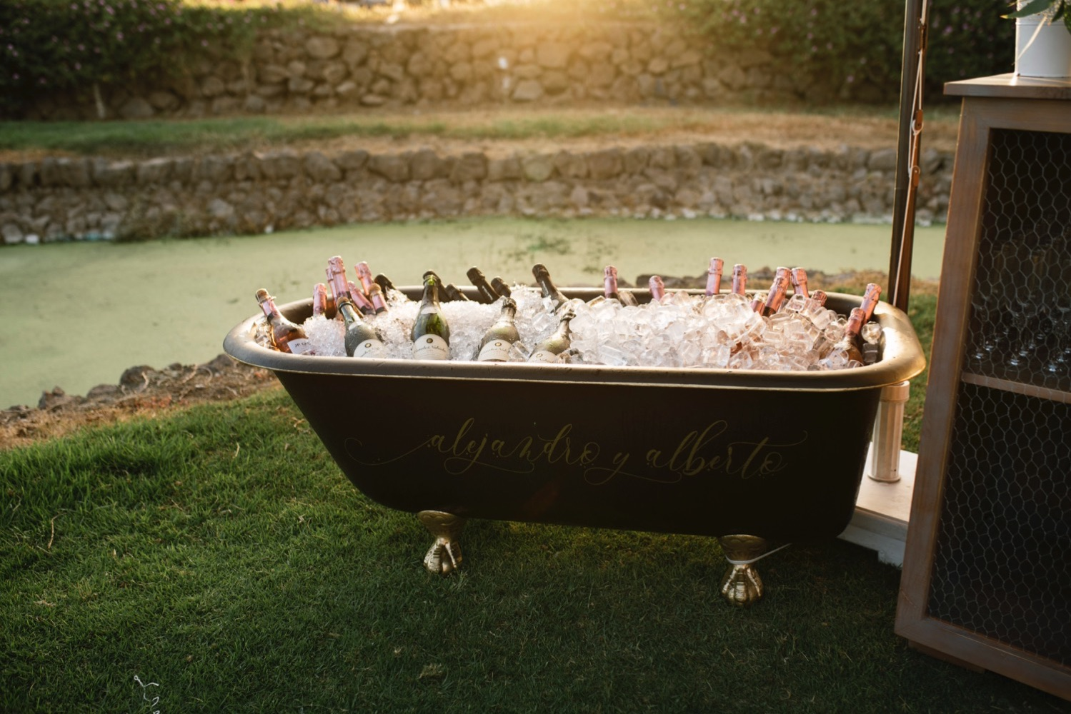 la famosa bañera Boda en Amarilla Golf- Luxury wedding