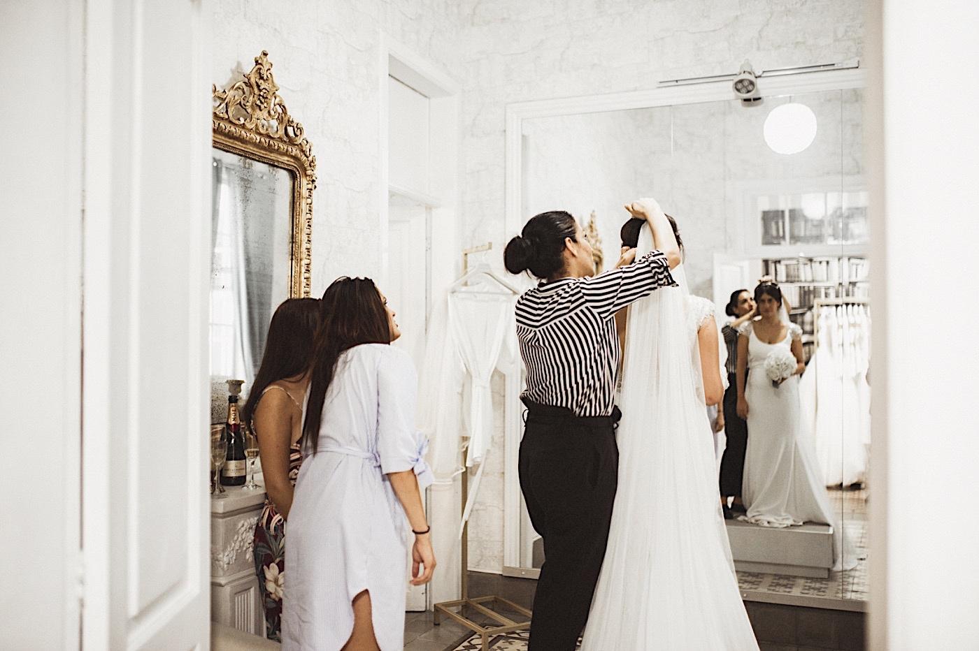 prueba del vestido de novia