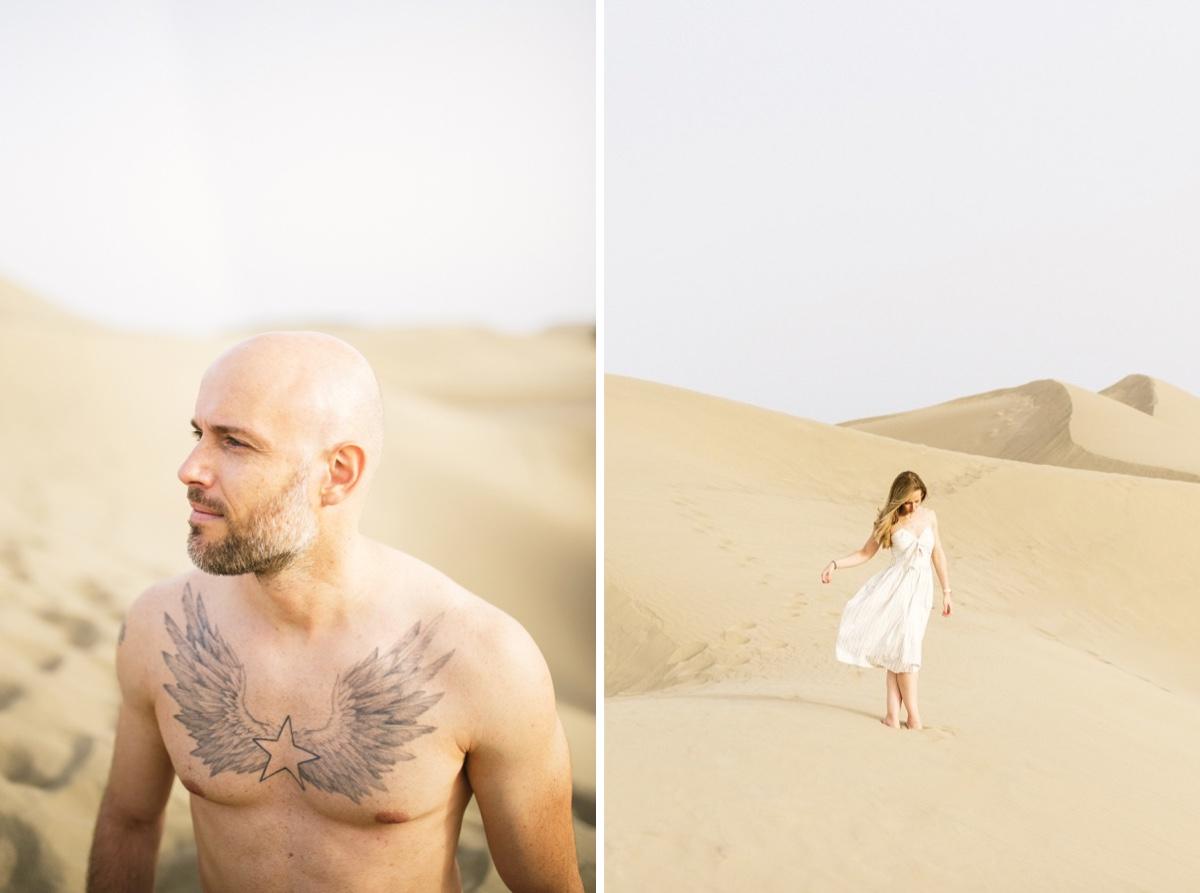 pareja en las dunas