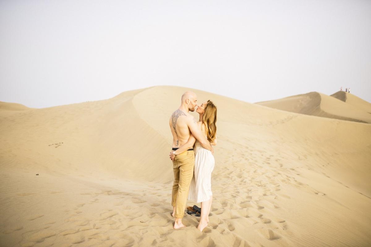 increíble preboda en las dunas de maspalomas